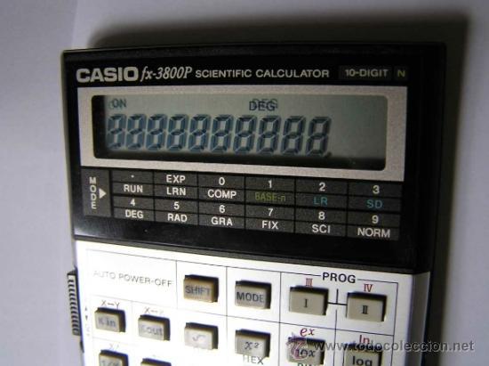 Vintage: CALCULADORA CASIO fx-3800P SCIENTIFIC CALCULATOR 10-DIGIT N CIENTIFICA PROGRAMABLE. - Foto 20 - 54643835