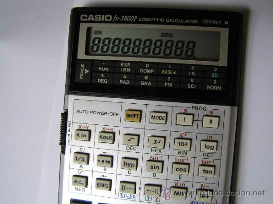 Vintage: CALCULADORA CASIO fx-3800P SCIENTIFIC CALCULATOR 10-DIGIT N CIENTIFICA PROGRAMABLE. - Foto 21 - 54643835