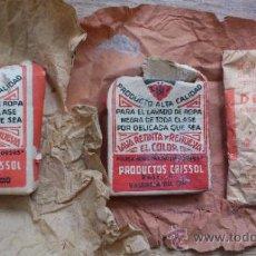 Vintage: LOTE DE 3 PAQUETES DE DETERGENTE DE PRINCIPIOS DEL SIGLO PASADO .. Lote 31920101