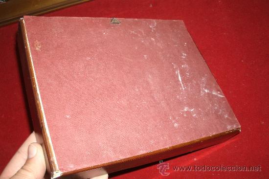 Vintage: ANTIGUA SEDA ENMARCADA CON REPLICA DE La pêche chinoise (1742) - Marco madera - Foto 6 - 32133335