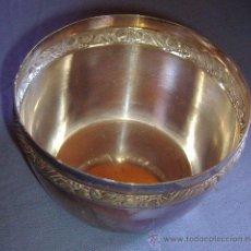 Vintage: RECIPIENTE METAL PLATEADO. AÑOS 40-50. FIRMA M.E.. Lote 32284805