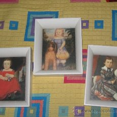 Vintage: CUADROS NIÑOS MADERA. Lote 32570517