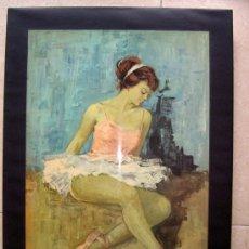 Vintage: CUADRO BAILARINA. TODO UN CLASICO AÑOS 60. Lote 32663055