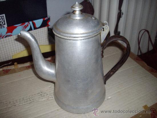 Vintage: preciosa cafetera vintage de aluminio - Foto 4 - 33029137