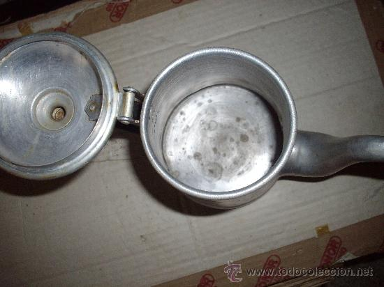 Vintage: preciosa cafetera vintage de aluminio - Foto 2 - 33029137
