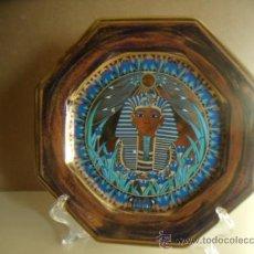 Vintage: PLATO OCTOGONAL DE PORCELANA SCHMIDT. ESMALTADO MOTIVO EGIPCIO. 27 CMS. PERFECTO.. Lote 33542744