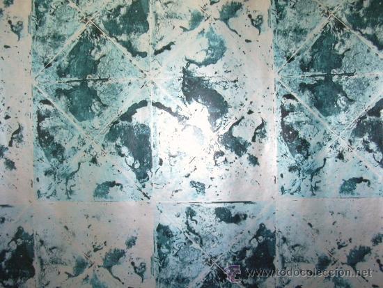 Papel pintado de los a os 70 simulando espejo a comprar en todocoleccion 40973994 - Papel pintado anos 60 ...