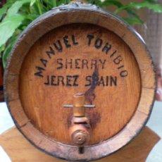 Vintage: BARRIL TONEL MADERA MANUEL TORIBIO JEREZ SPAIN SHERRY. Lote 34260332