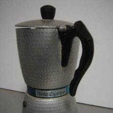 Vintage: CAFETERA NOVA EXPRESS, BREVETTATA FONDO ELÉCTRICO MADE IN ITALY, PRECIOSA DE DISEÑO, 21CM ALTO.. Lote 34355115
