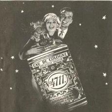 Vintage: PÁGINA DE PUBLICIDAD ORIGINAL DE *COLONIA Nº 4711*. EAU DE COLOGNE · KÖLNISCH WASSER - AÑO 1961. Lote 34613018