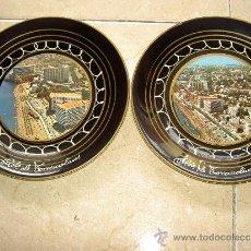 Vintage: PAREJA PLATOS RECUERDO TORREMOLINOS SOUVENIR. Lote 34965900