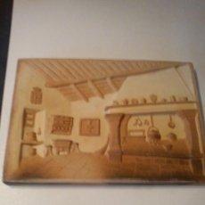 Vintage: PEQUEÑO MURAL O PLAFON ,ESCENA RURAL GALLEGA, TERRACOTA BICOLOR EN RELIEVE ,DE BUÑO AÑOS 80 ,SELLADA. Lote 35377972