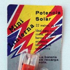 Vintage: ANTIGUA MINI LINTERNA SOLAR VINTAGE. SIN ABRIR!!! AÑOS 80. Lote 35379727