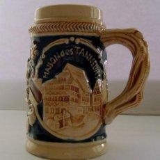 Vintage: JARRA DE CERVEZA ALEMANA CON GRABADO. Lote 35683154