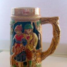 Vintage: JARRA DE CERVEZA PORCELANA . GERMANY . PINTADA A MANO. Lote 35684290