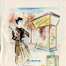 Vintage: PÁGINA PUBLICIDAD ORIGINAL *JABÓN Y COLONIA HENO DE PRAVIA. GAL*. AGENCIA VERITAS MADRID - AÑO 1953. Lote 35795712