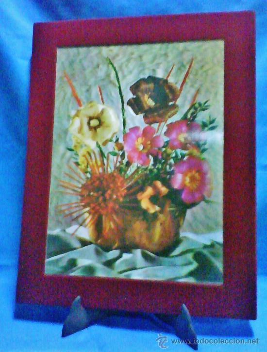 vintage cuadro flores cuadros en relieve d madera y
