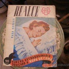 Vintage: ANTIGUA REVISTA REALCE ALBUM PARA BORDAR - NUMERO 25 - ESPECIAL DEDICADO A LA ROPA DE CAMA. Lote 36376943