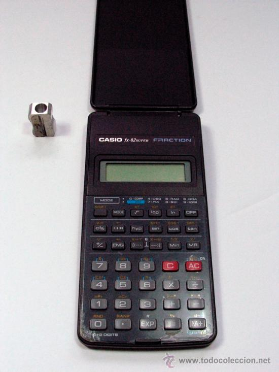 ANTIGUA CALCULADORA CASIO FX-82 SUPER FRACTION FUNCIONA (Vintage - Varios)
