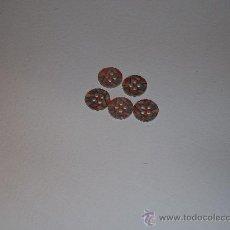 Vintage: BONITOS BOTONES EN TONOS EN AZUL Y ROSA,JASPEADOS. Lote 36510609