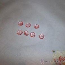 Vintage: BOTONES ROSA TRANSPARENTE. Lote 36582558