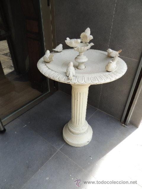 Fuente de hierro con adornos de pajaros para ja comprar for Fuentes de jardin de segunda mano