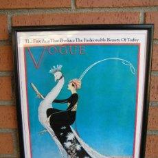 Vintage: PORTADA VOGUE 1911. ENMARCADA .ART-DÉCO. COPIA DE LOS AÑOS 60 0 70.. Lote 36907110