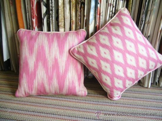 Cojines rosa y blanco tela de gaston y daniela comprar - Cojines gaston y daniela ...
