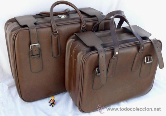 Juego maletas maleta antigua vintage ideal uso comprar for Maletas antiguas online