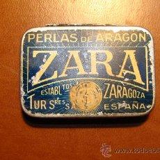 Vintage: ANTIGUA CAJA METALICA ZARA. Lote 37437386