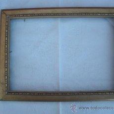 Vintage: ANTIGUO MARCO DE MADERA DORADO. 26CM X 19CM. Lote 37601457