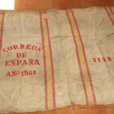 Vintage: SACO, SACA GRANDE, ABIERTA, DE CORREOS AÑO 1961. 65 X 100 CM SIN ABRIR. VER FOTOS Y DESCRIPCION.. Lote 37649013