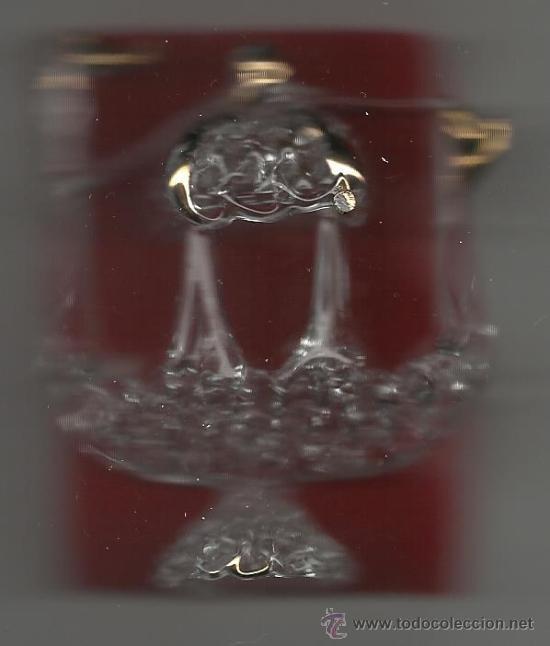 PEQUEÑO BARCO DE CRISTAL 8X 6 CM. (Vintage - Decoración - Varios)
