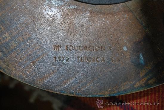 Vintage: TABURETE DEL MINISTERIO DE EDUCACIÓN Y CIENCIA - 1972 - TUBESCA - Foto 11 - 38110593