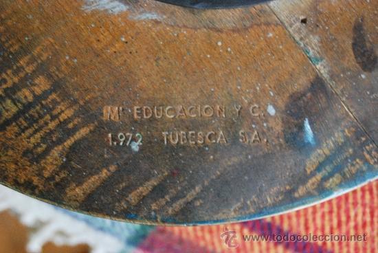 Vintage: TABURETE DEL MINISTERIO DE EDUCACIÓN Y CIENCIA - 1972 - TUBESCA - Foto 12 - 38110593