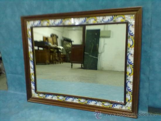 Espejo madera cenefa orla azulejos ceramica comprar en - Cenefas para espejos ...