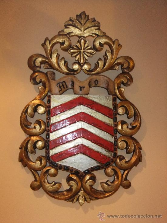 escudo heráldico de madera policromada del apel - Comprar en ...