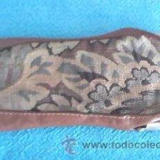 Vintage: PRECIOSA FUNDA DE TELA Y CUERO PARA GAFAS. AÑOS 60.. Lote 38574250