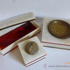 Vintage: CONJUNTO DE FUMADOR PARA SOBREMESA. Lote 39033044