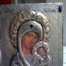 Vintage: ICONO DE ESTAÑO SOBRE BASE DE MADERA PPIO AÑOS 70. Lote 39534915