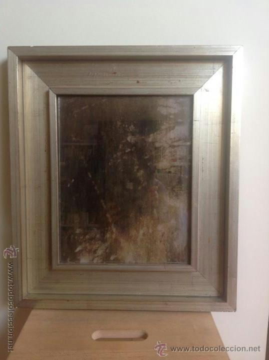 espejo tratado con cido con marco plateado x cm
