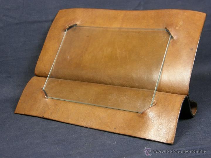 marco de fotos francés de cuero duro doblado e - Comprar en ...