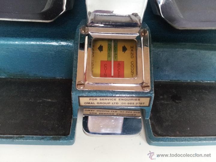 Vintage: CONTADOR DE DINERO VINTAGE OMAL UNIVERSAL CON 48 PESOS. USADO POR BANCOS - Foto 3 - 39687701