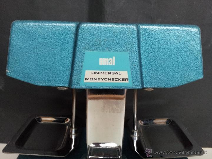 Vintage: CONTADOR DE DINERO VINTAGE OMAL UNIVERSAL CON 48 PESOS. USADO POR BANCOS - Foto 5 - 39687701