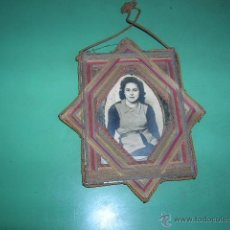 Vintage: CUADRITO TEJIDO CON HILOS ,ANTIGUO. Lote 39929573