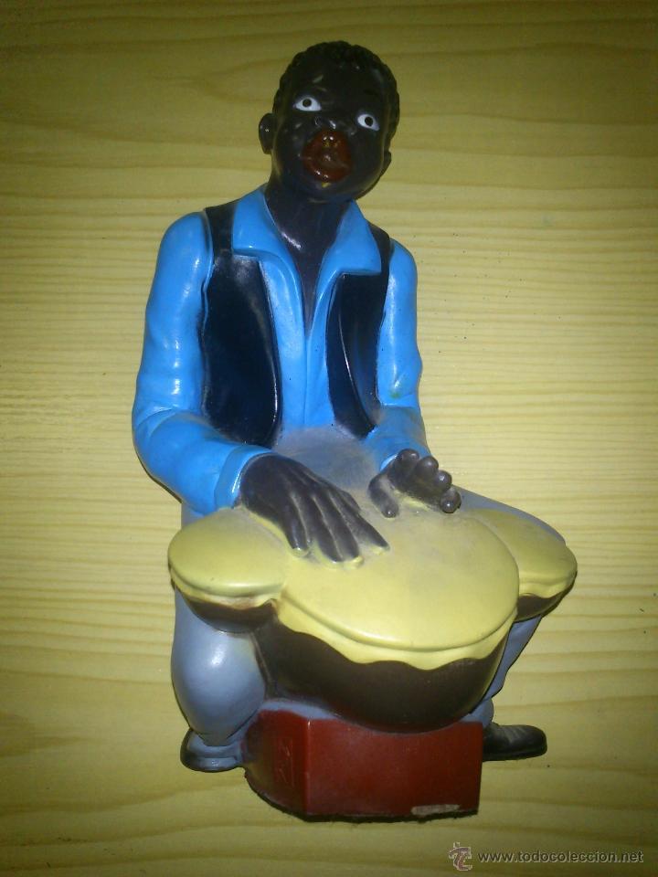 Escultura Decorativa Musico Negro De V Navarro Comprar En - Escultura-decorativa