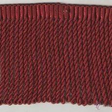 Vintage: 1 MTS. DE FLECO ALGODÓN GRANATE DE 10 CMS. DE LARGO. Lote 40272666