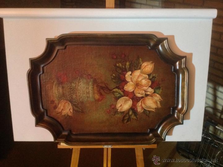 Cuadros pintados sobre bandeja de madera comprar en - Cuadros vintage madera ...