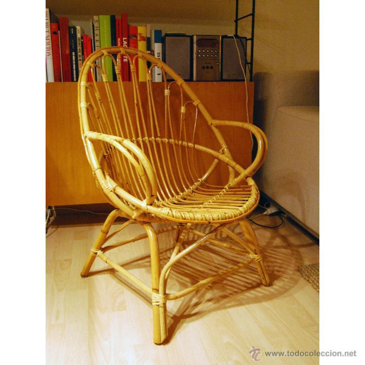 Silla sill n de bamb comprar en todocoleccion 40296551 - Sillas de bambu ...