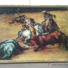 Vintage: COPIA DEL CUADRO PAN Y TOROS DE GOYA. Lote 40351637
